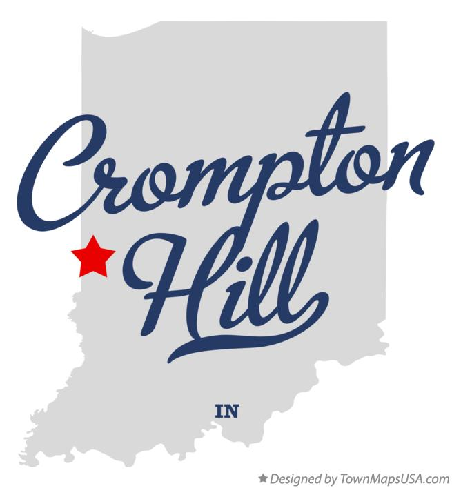 Map of Crompton Hill Indiana IN