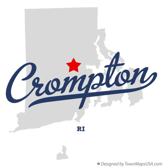 Map of Crompton Rhode Island RI