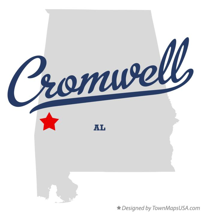 Map of Cromwell Alabama AL