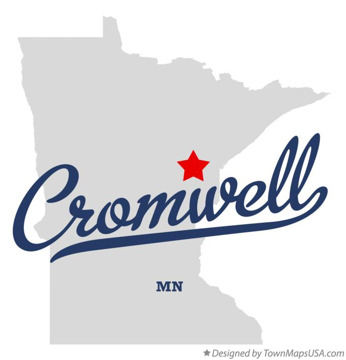 Map of Cromwell Minnesota MN