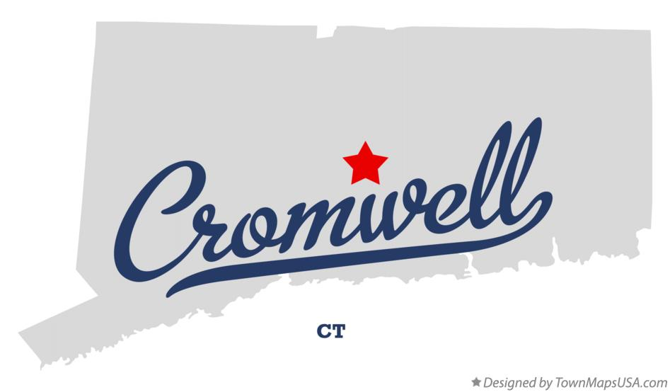 Map of Cromwell Connecticut CT