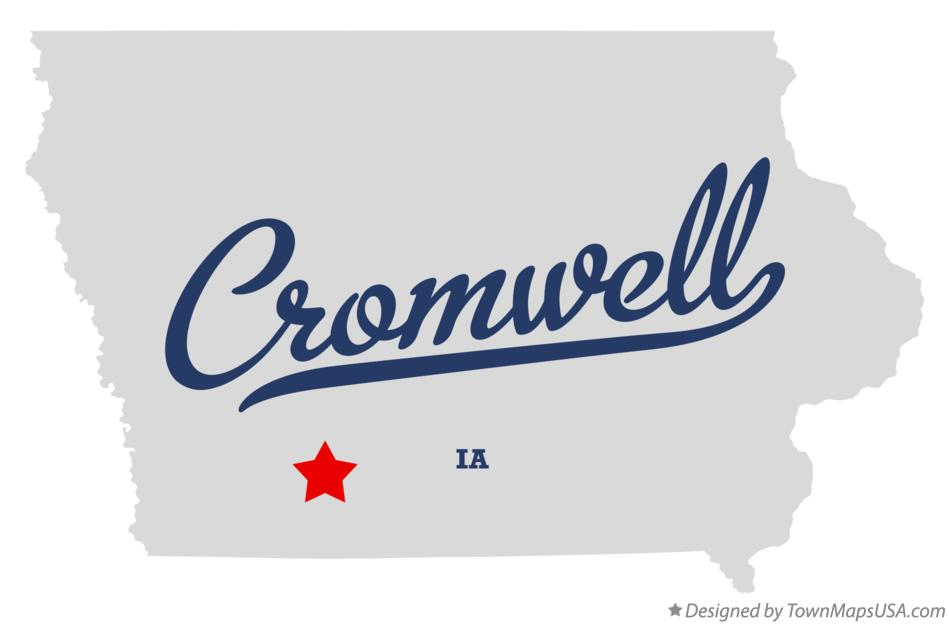Map of Cromwell Iowa IA