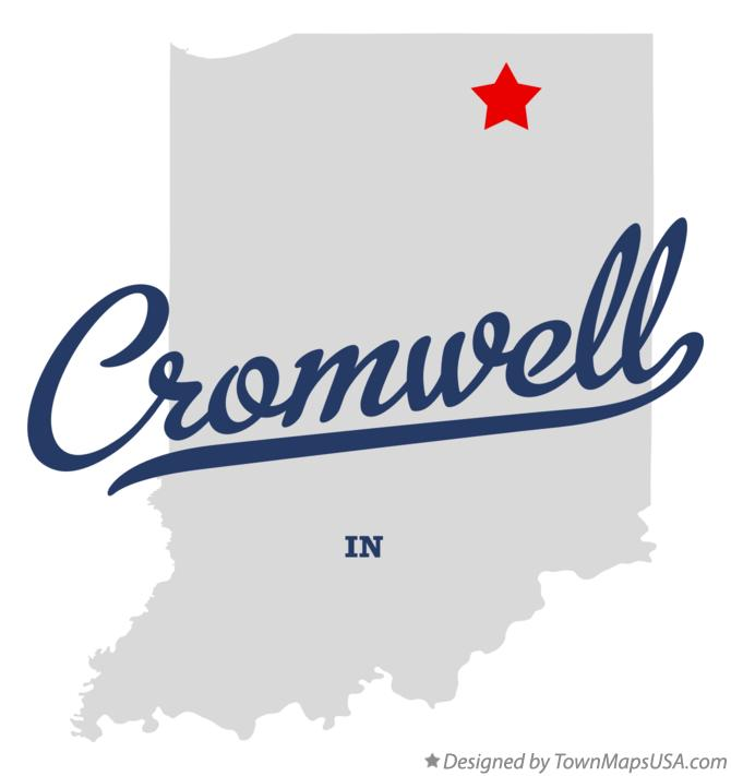 Map of Cromwell Indiana IN