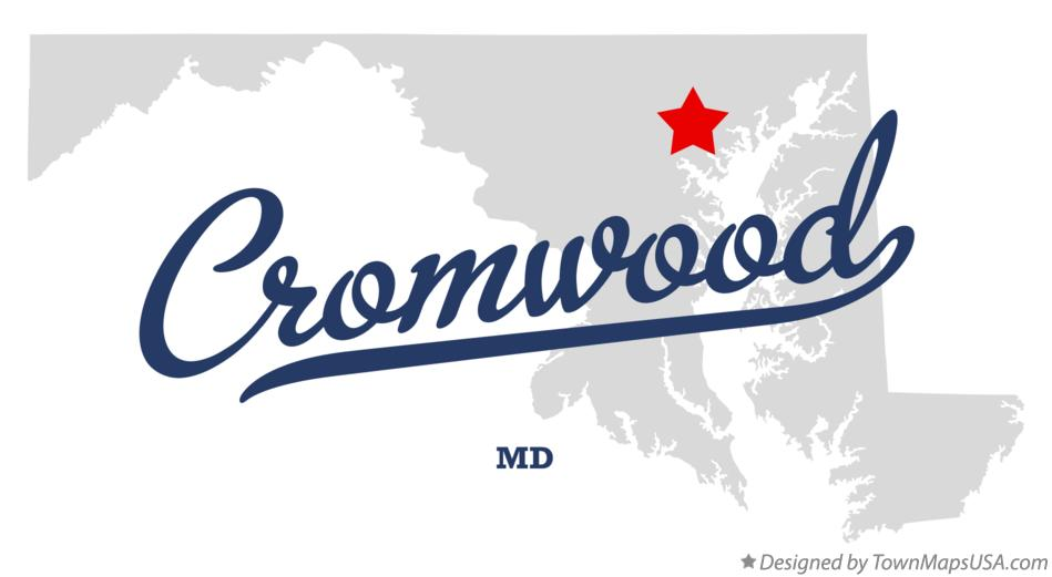 Map of Cromwood Maryland MD