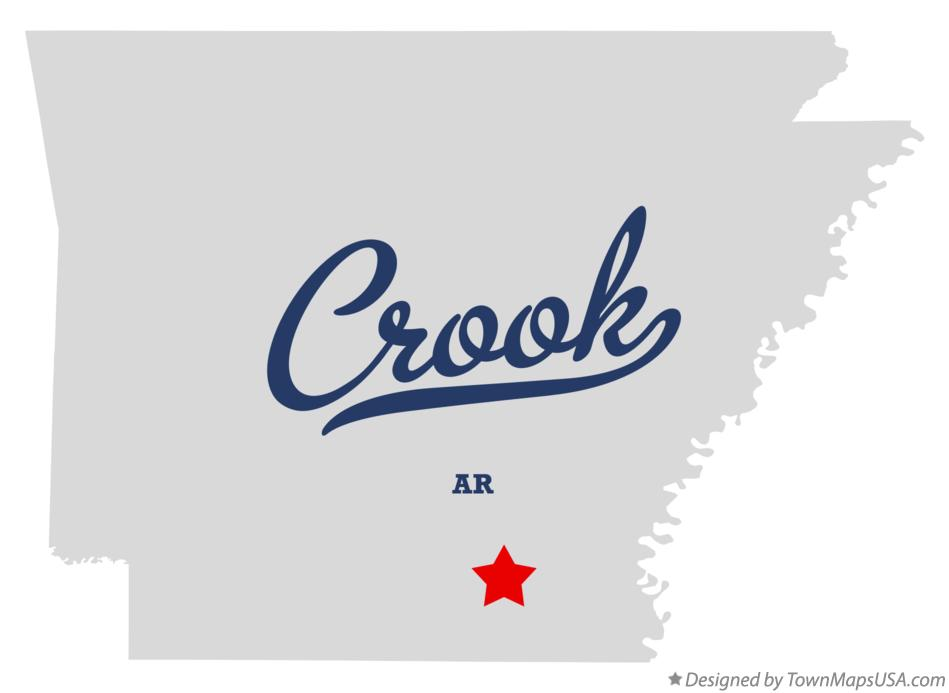 Map of Crook Arkansas AR