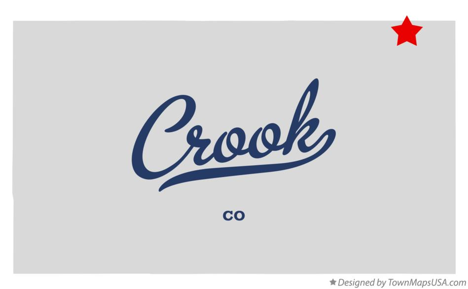 Map of Crook Colorado CO