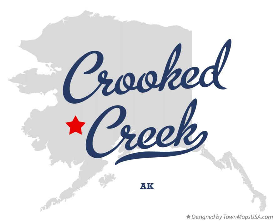 Map of Crooked Creek Alaska AK