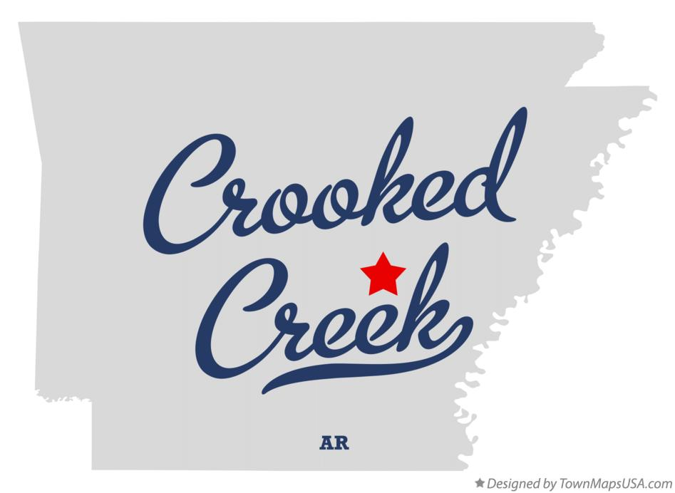 Map of Crooked Creek Arkansas AR