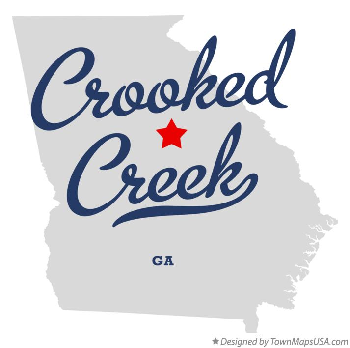 Map of Crooked Creek Georgia GA