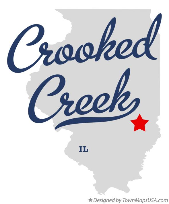 Map of Crooked Creek Illinois IL