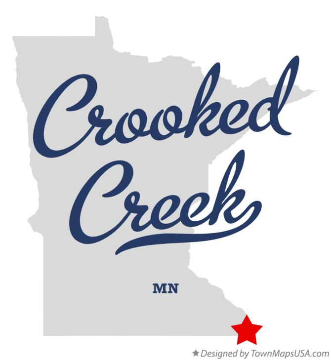 Map of Crooked Creek Minnesota MN