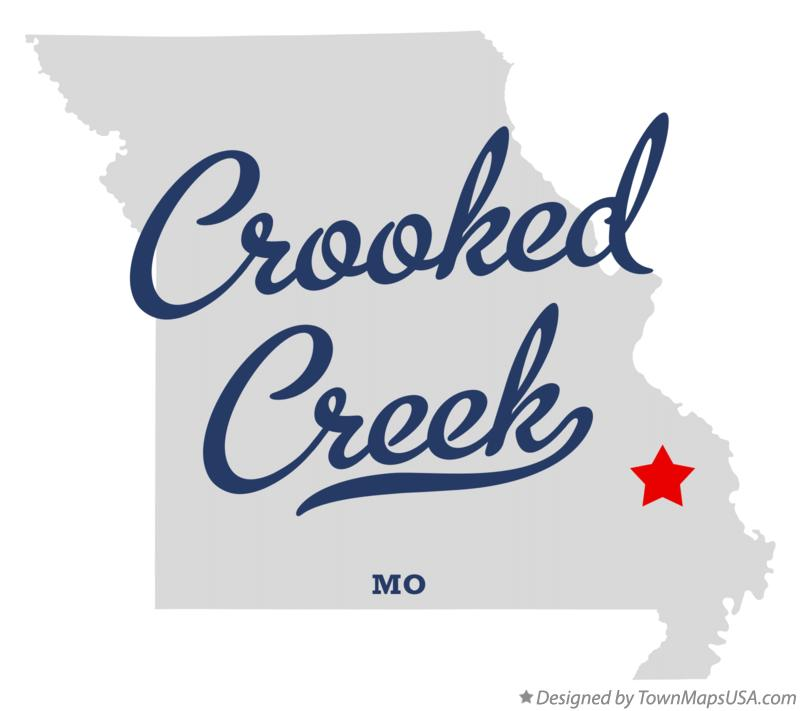 Map of Crooked Creek Missouri MO