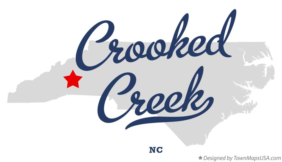 Map of Crooked Creek North Carolina NC