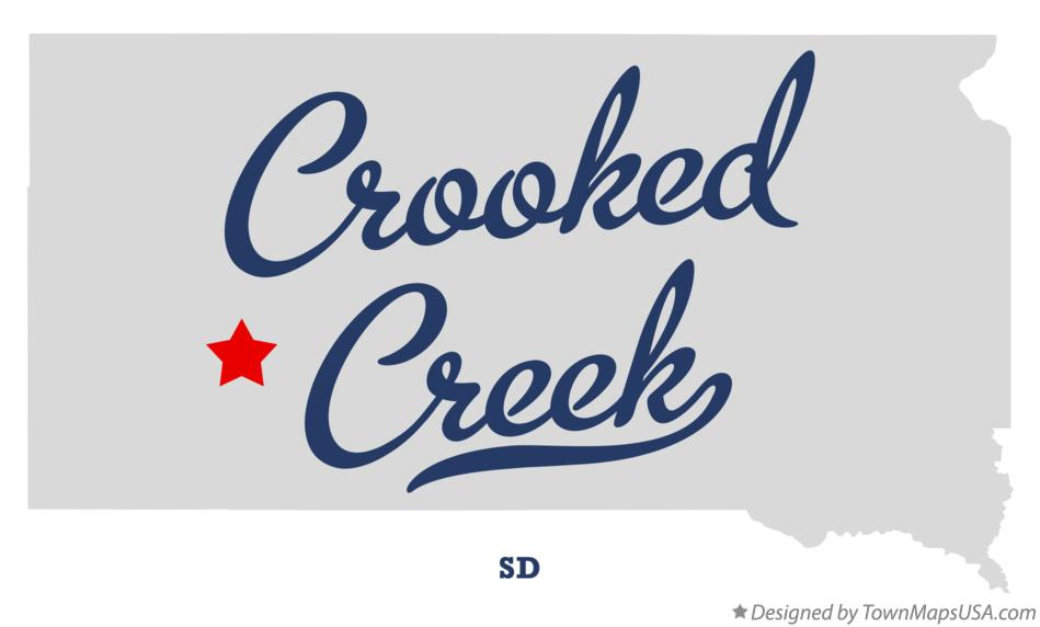 Map of Crooked Creek South Dakota SD
