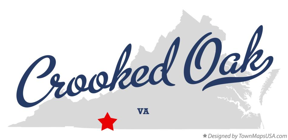 Map of Crooked Oak Virginia VA