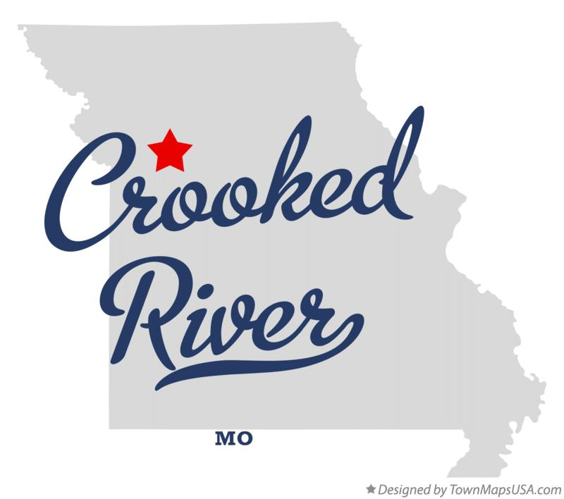 Map of Crooked River Missouri MO