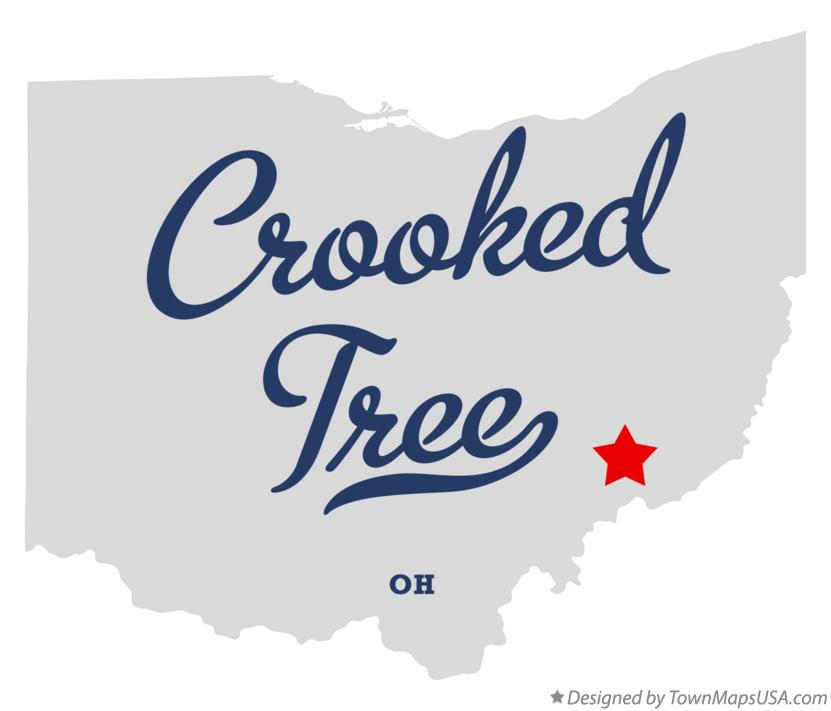 Map of Crooked Tree Ohio OH