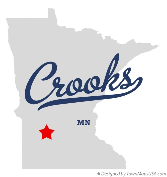 Map of Crooks Minnesota MN
