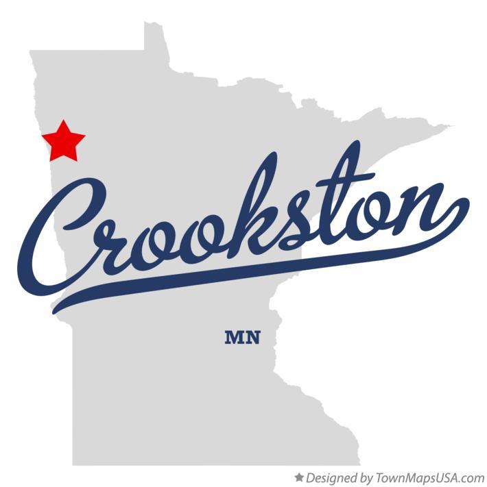 Map of Crookston, MN, Minnesota
