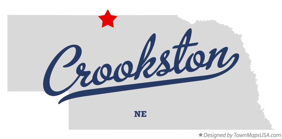 Map of Crookston Nebraska NE