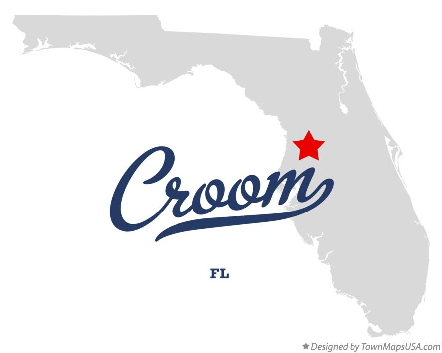 Map of Croom Florida FL