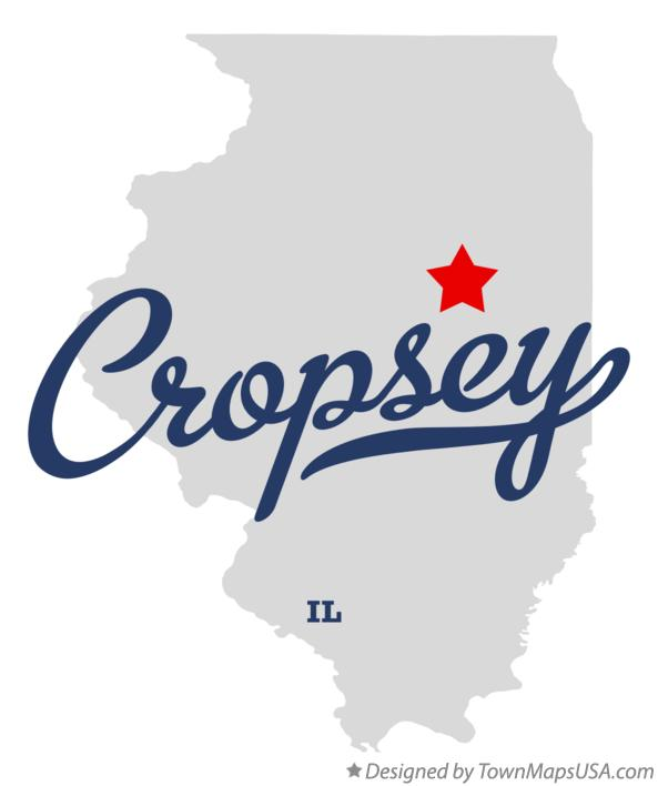 Map of Cropsey Illinois IL