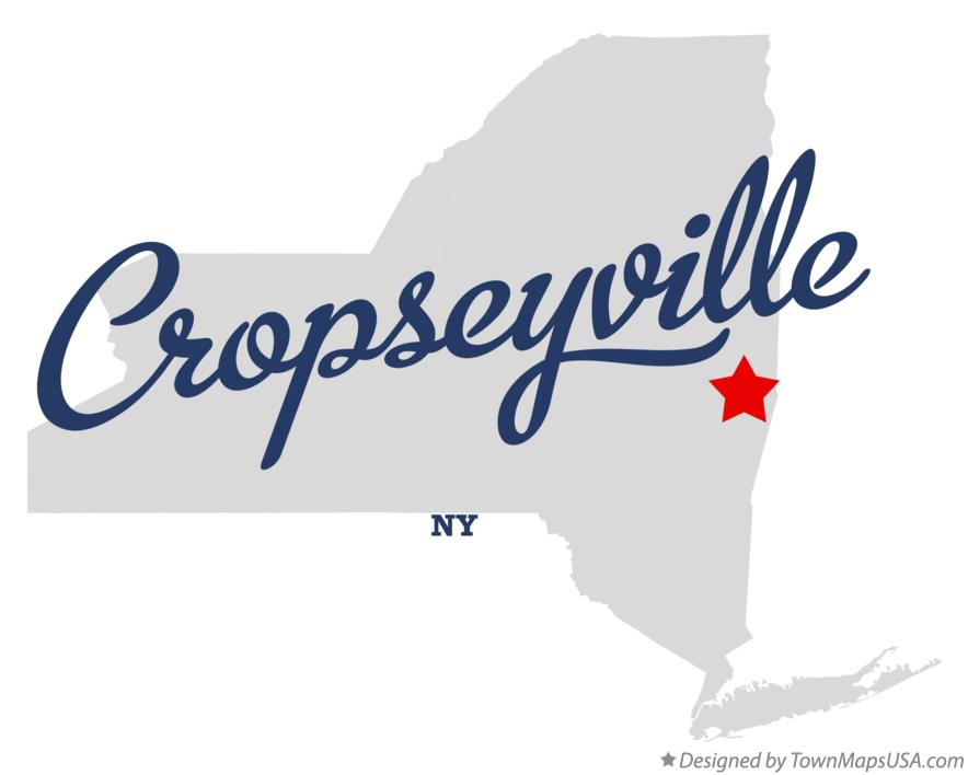 Map of Cropseyville New York NY