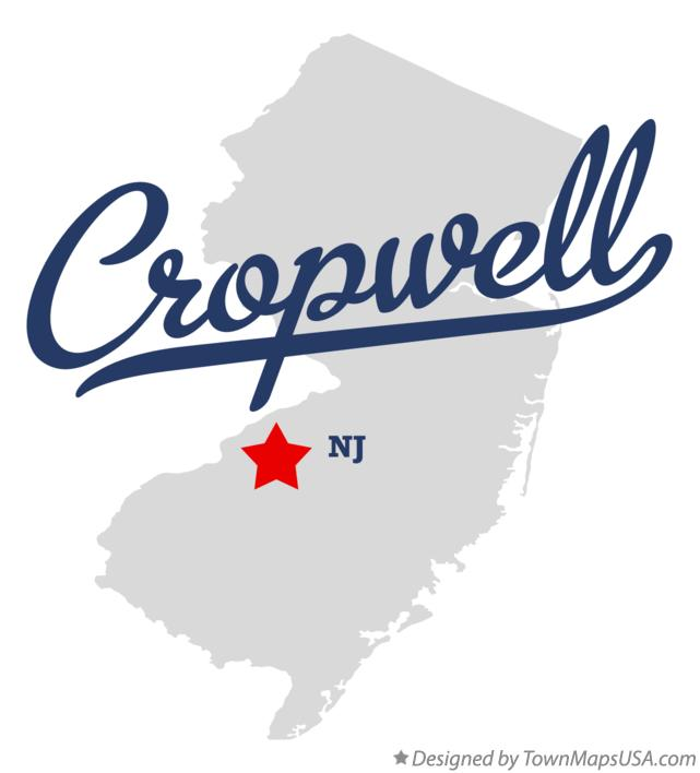 Map of Cropwell New Jersey NJ