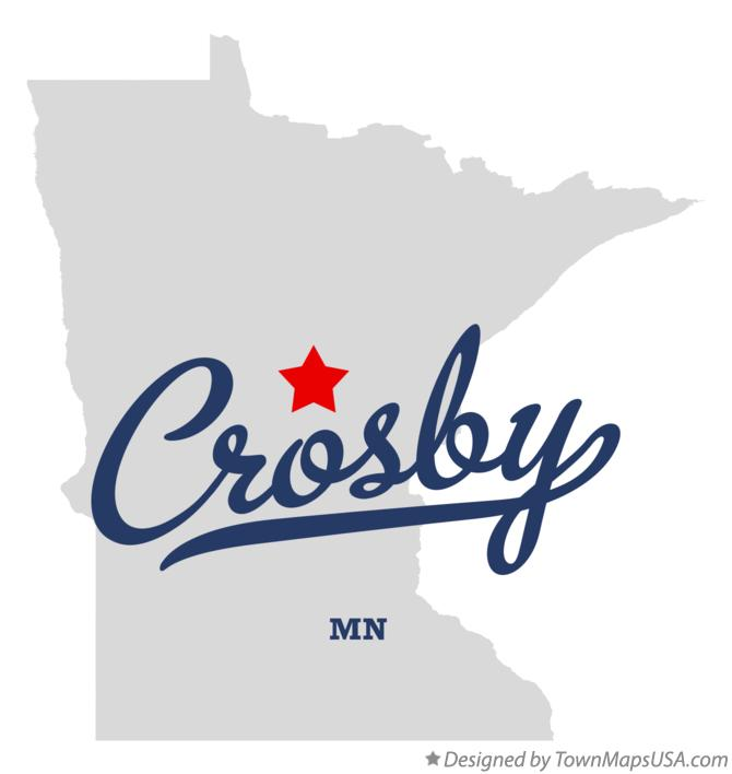 Map of Crosby Crow Wing County MN Minnesota