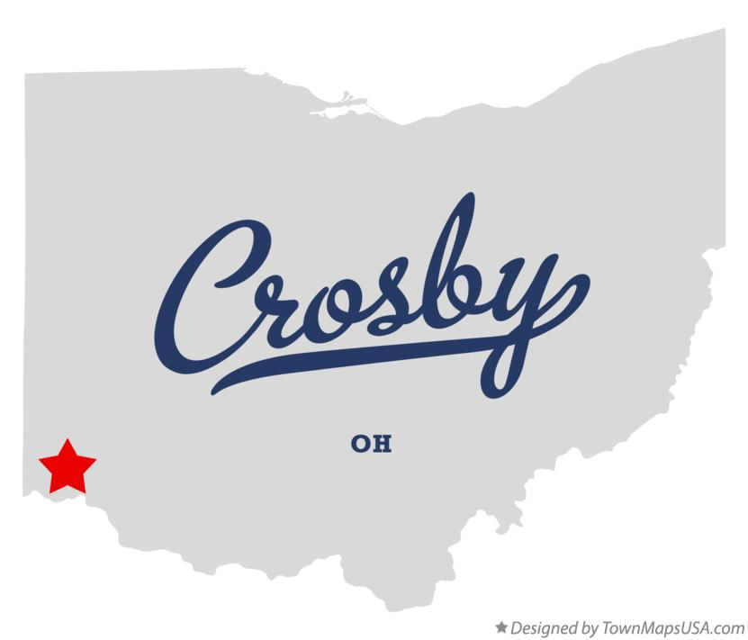 Map of Crosby Ohio OH