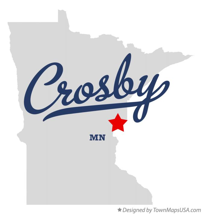 Map of Crosby Minnesota MN