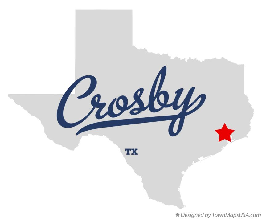 Map of Crosby Texas TX