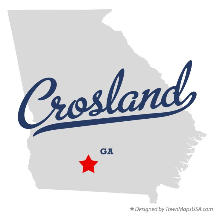 Map of Crosland Georgia GA