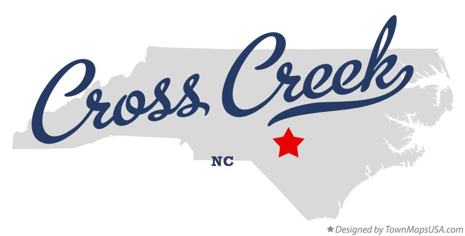 Map of Cross Creek North Carolina NC