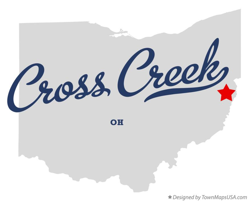 Map of Cross Creek Ohio OH