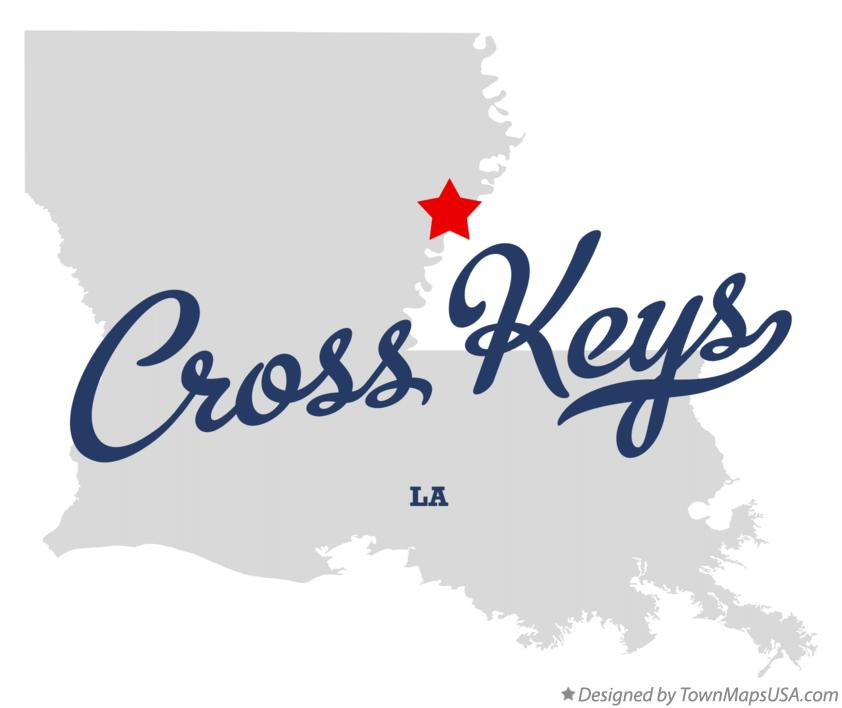 Map of Cross Keys Louisiana LA
