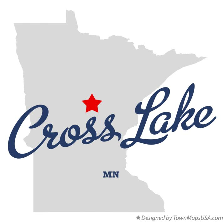 Map of Cross Lake Minnesota MN