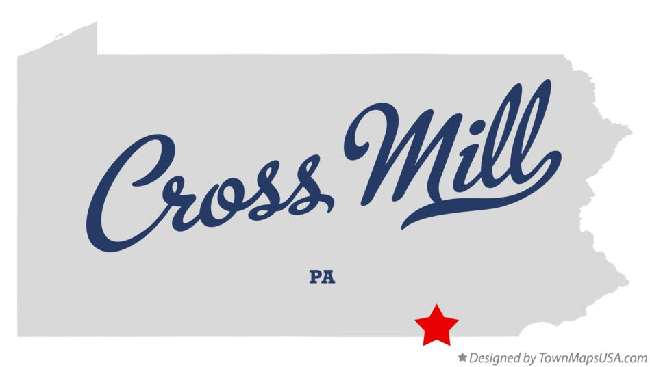 Map of Cross Mill Pennsylvania PA
