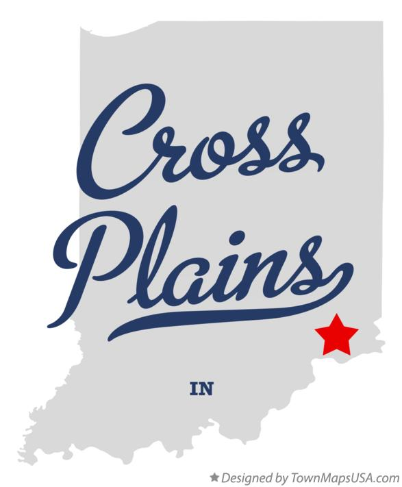 Map of Cross Plains Indiana IN