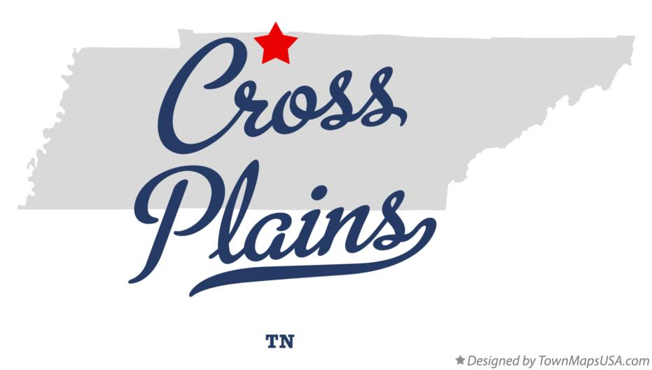 Map of Cross Plains Tennessee TN