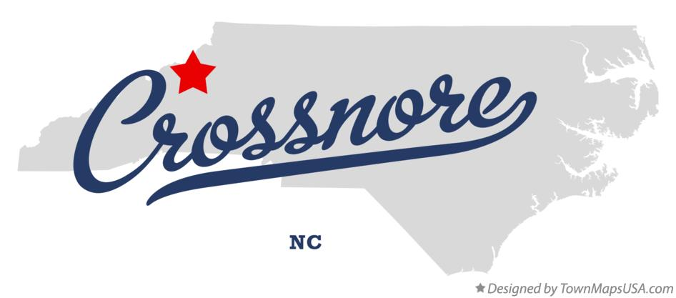 Map of Crossnore North Carolina NC