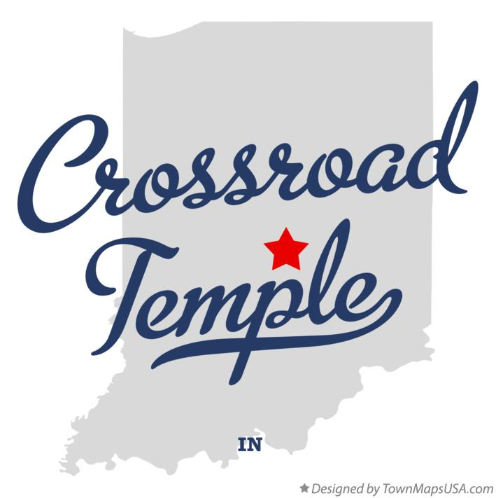 Map of Crossroad Temple Indiana IN