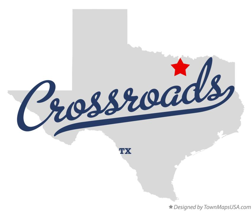 Map of Crossroads Texas TX