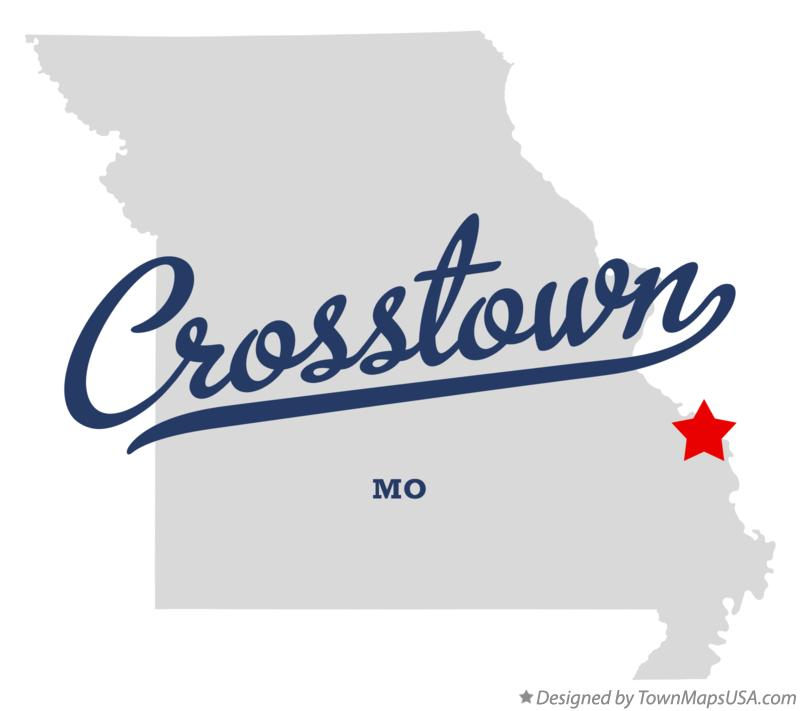 Map of Crosstown Missouri MO