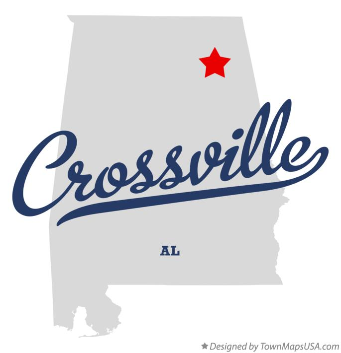Map of Crossville Alabama AL