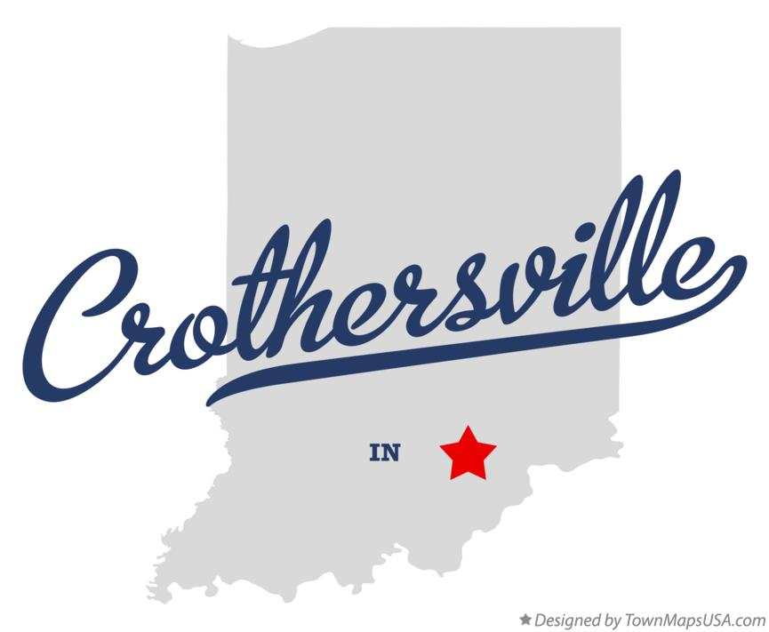Map of Crothersville Indiana IN