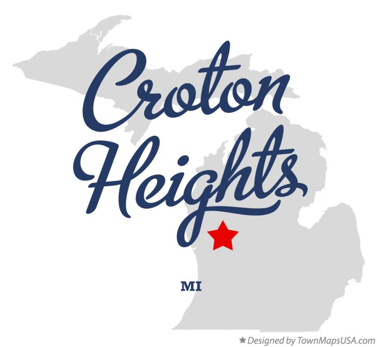 Map of Croton Heights Michigan MI
