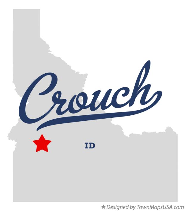 Map of Crouch Idaho ID
