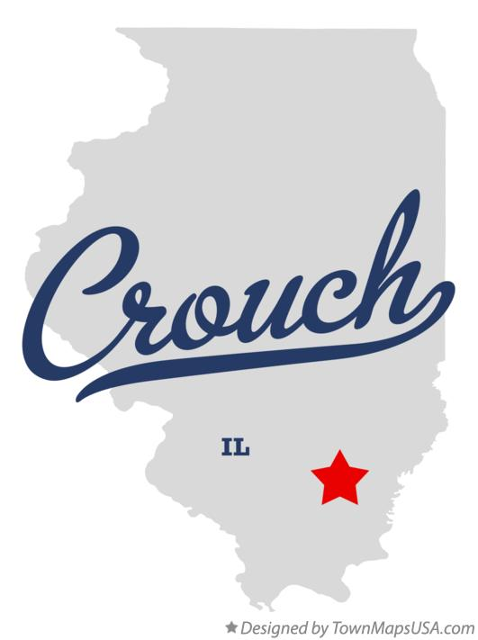 Map of Crouch Illinois IL