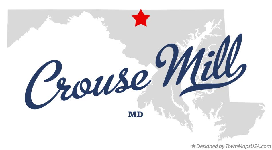 Map of Crouse Mill Maryland MD